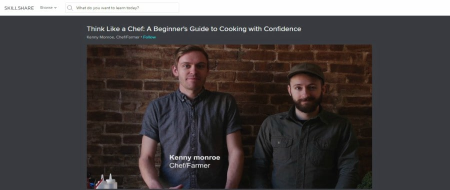 Skillshare: Think Like a Chef: A Beginner's Guide to Cooking With Confidence