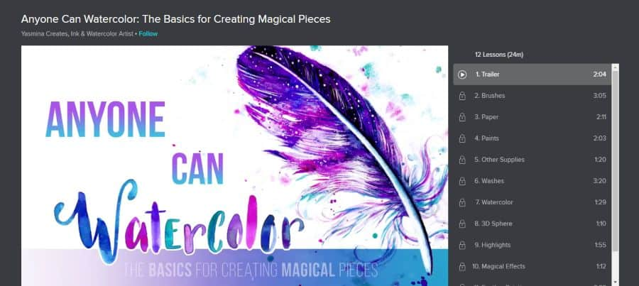 Skillshare: Anyone Can Watercolor: The Basics for Creating Magical Pieces