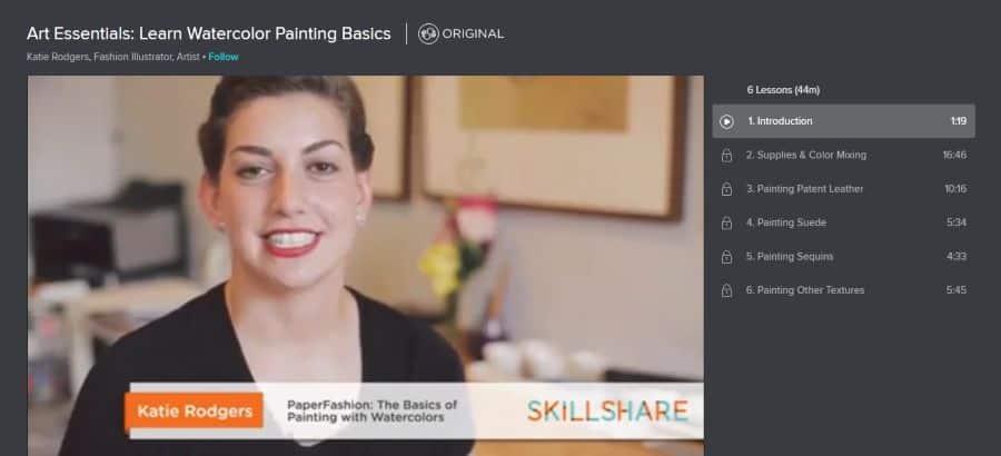 Skillshare: Art Essentials: Learn Watercolor Painting Basics