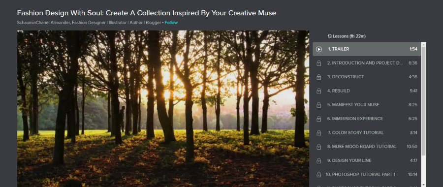 Skillshare: Fashion Design With Soul: Create a Collection Inspired by your Creative Muse