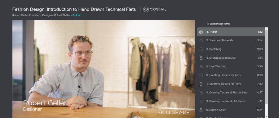 Skillshare: Fashion Design: Introduction to Hand Drawn Technical Flats