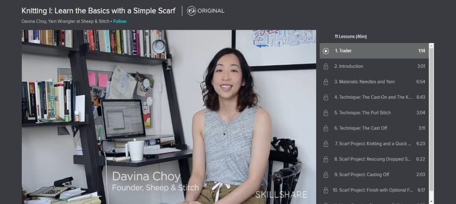 Skillshare: Knitting I: Learn the Basics With a Simple Scarf