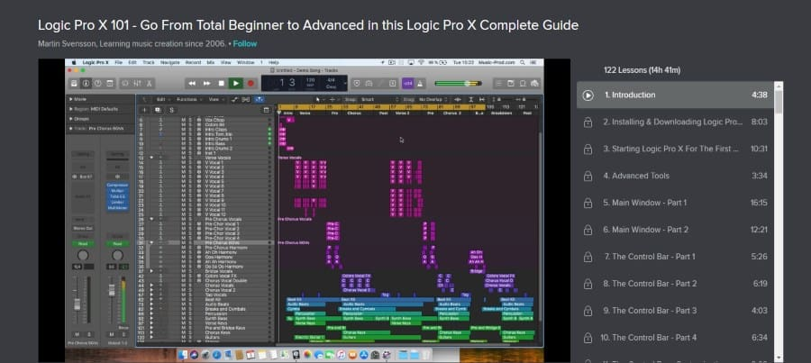 Skillshare: Logic Pro X 101: Go From Total Beginner to Advanced in This Logic Pro X Complete Guide