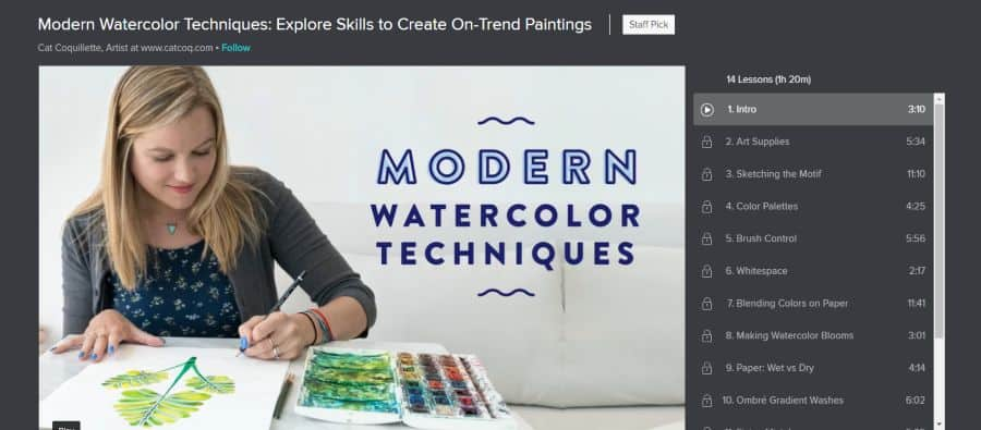 Skillshare: Modern Watercolor Techniques: Explore Skills to Create On-Trend Paintings