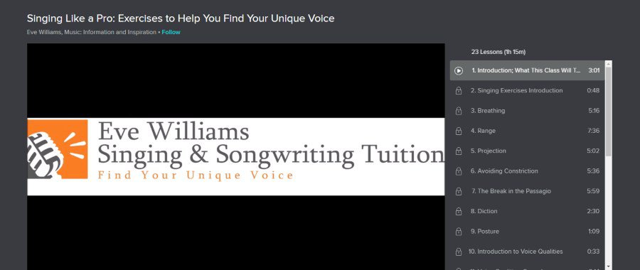 Skillshare: Singing Like a Pro: Exercises to Help You Find Your Unique Voice