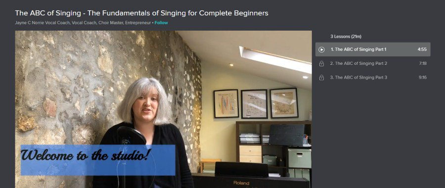 Skillshare: The ABC of Singing: The Fundamentals of Singing for Complete Beginners