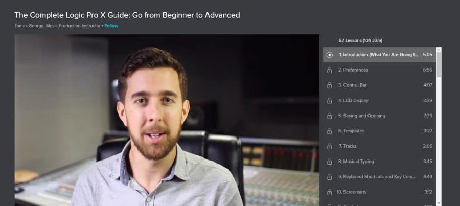 Skillshare: The Complete Logic Pro X Guide: Go From Beginner to Advanced