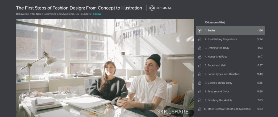 Skillshare: The Fist Steps of Fashion Design: From Concept to Illustration