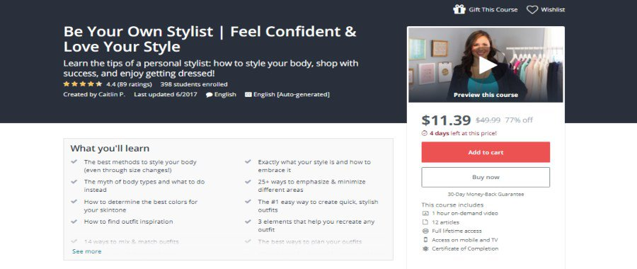Udemy: Be Your Own Stylist: Feel Confident and Love your Style