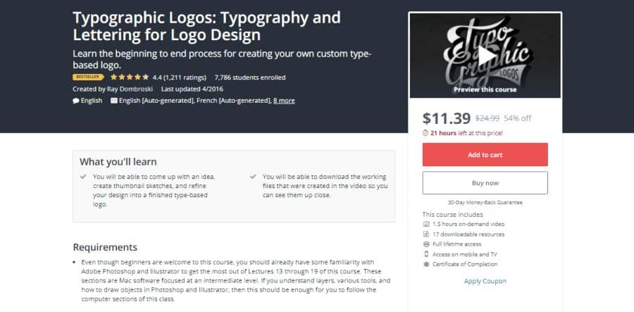 Udemy: Typographic Logos: Typography and Lettering for Logo Design