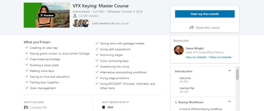 VFX Keying: Master Course