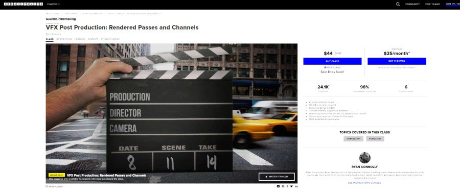 VFX Post Production: Rendered Passes and Channels
