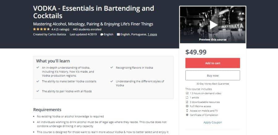 VODKA - Essentials in Bartending and Cocktails