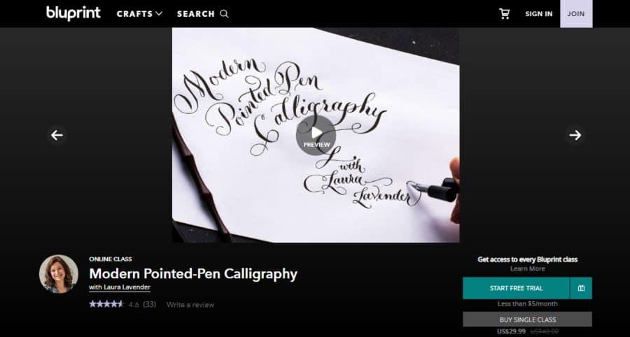 Bluprint: Modern Pointed-Pen Calligraphy