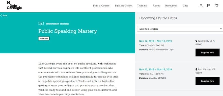 Dale Carnegie: Public Speaking Mastery
