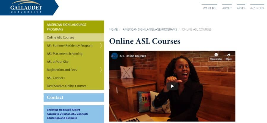 asl courses gallaudet university classes