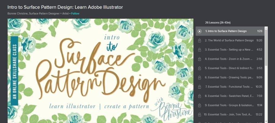 Intro to Surface Pattern Design: Learn Adobe Illustrator