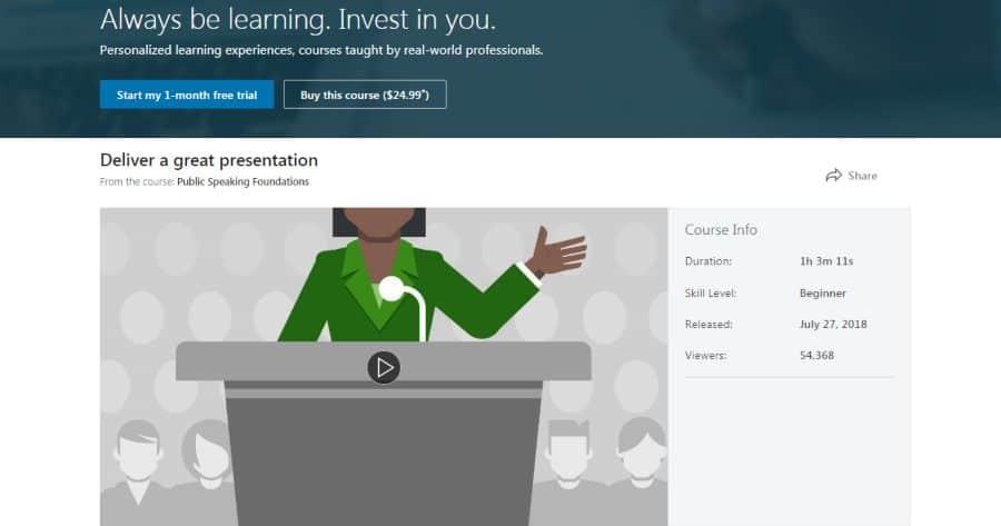LinkedIn: Public Speaking Foundations