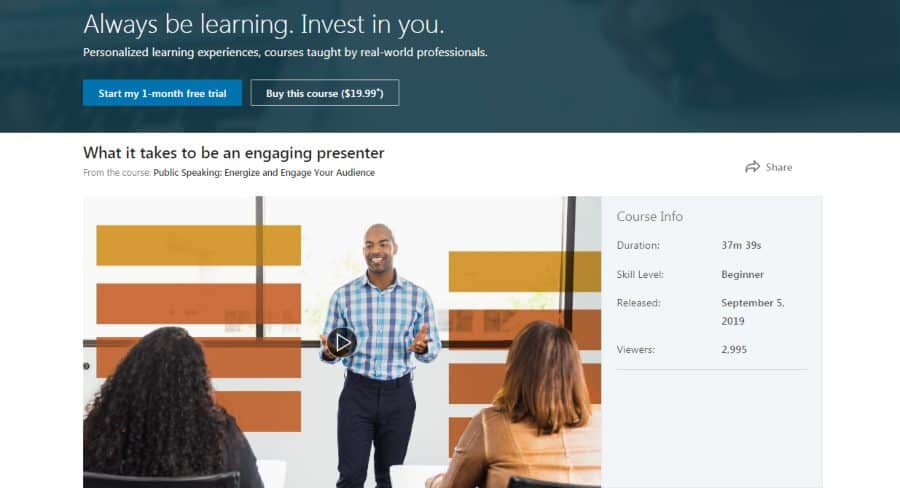 LinkedIn: Public Speaking: Energize and Engage Your Audience