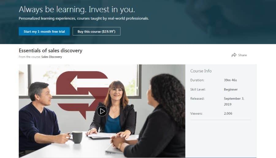 LinkedIn: Sales Discovery