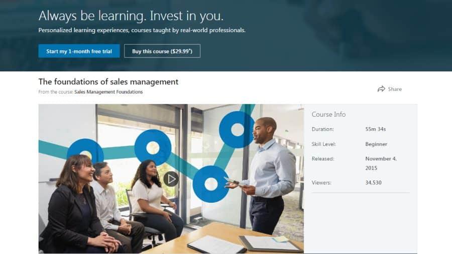 LinkedIn: Sales Management Foundations