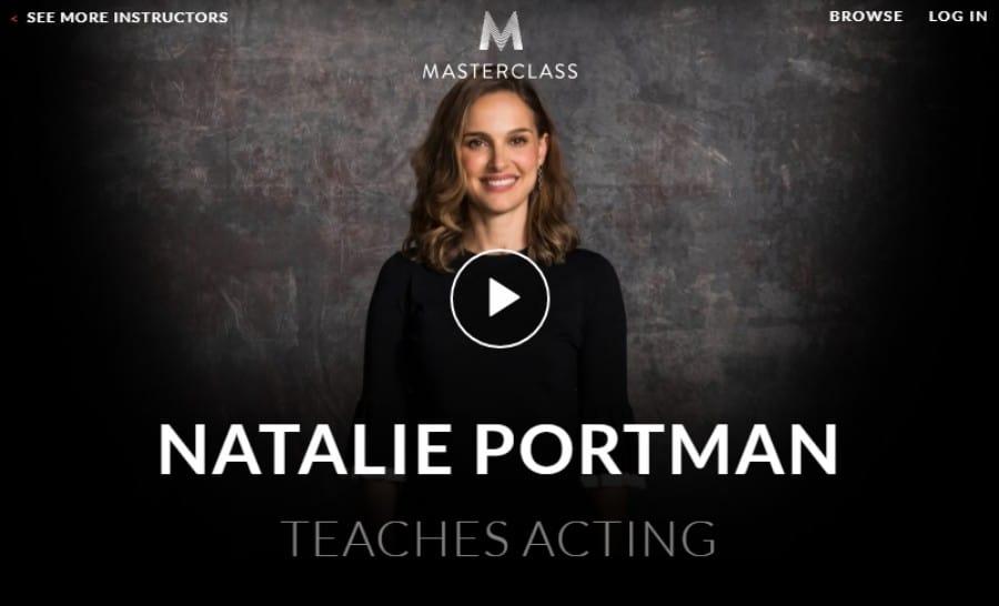 Masterclass: Natalie Portman Teaches Acting Best Online Acting Classes