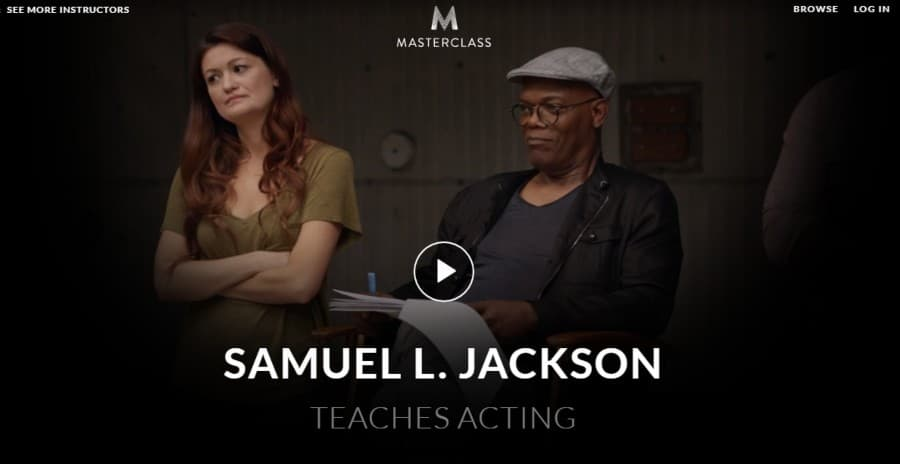 Masterclass: Samuel L. Jackson Teaches Acting Best Online Acting Classes