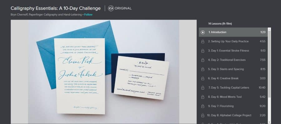 Skillshare: Calligraphy Essentials: A 10-Day Challenge