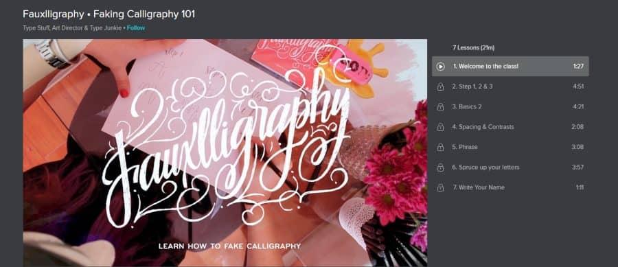 Skillshare: Fauxlligraphy – Faking Calligraphy 101