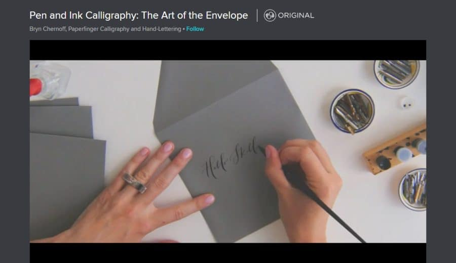 Skillshare: Pen and Ink Calligraphy: The Art of the Envelope