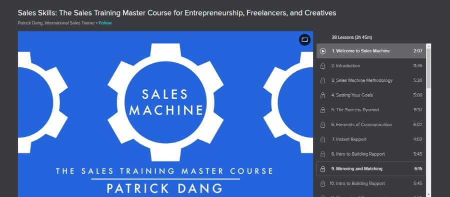Skillshare: Sales Machine: The Sales Training Master Course for Entrepreneurship, Freelancers, and Creatives