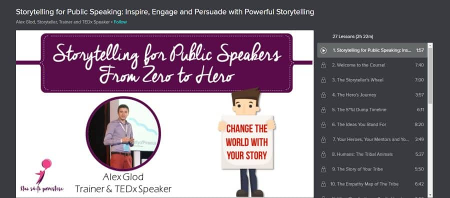 Skillshare: Storytelling for Public Speaking: Inspire, Engage and Persuade with Powerful Storytelling