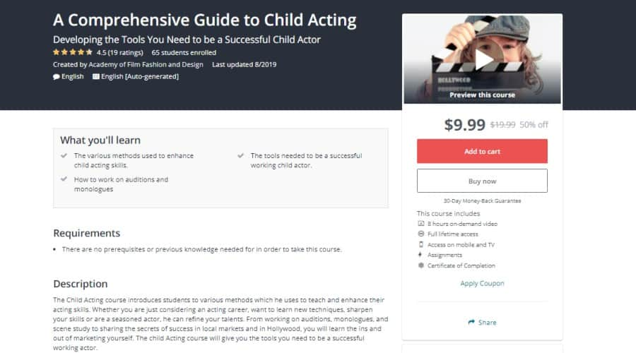 Udemy: A Comprehensive Guide to Child Acting