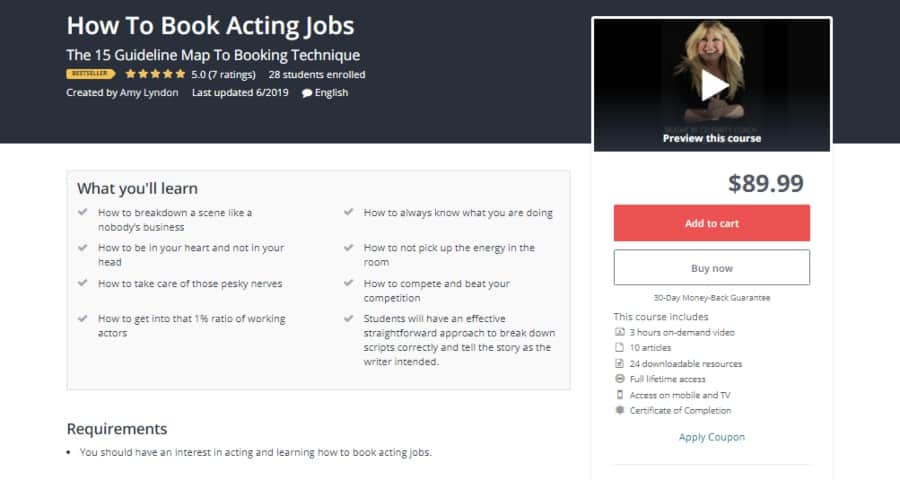 Udemy: How to Book Acting Jobs