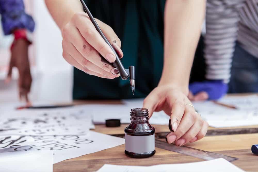 shutterstock 1262540716 Top 11+ Best Online Calligraphy Classes, Courses + Training