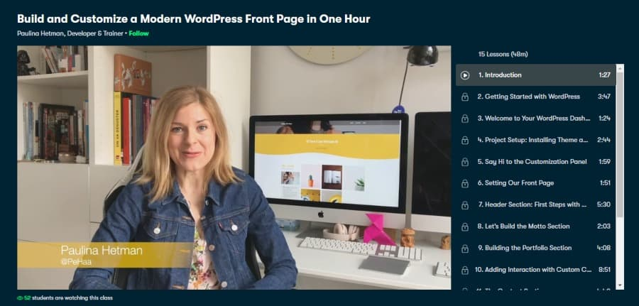Build and Customize a Modern WordPress Front Page in One Hour