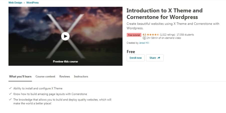 Introduction to X Theme and Cornerstone for WordPress