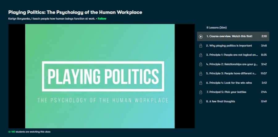 Playing Politics: The Psychology of the Human Workplace