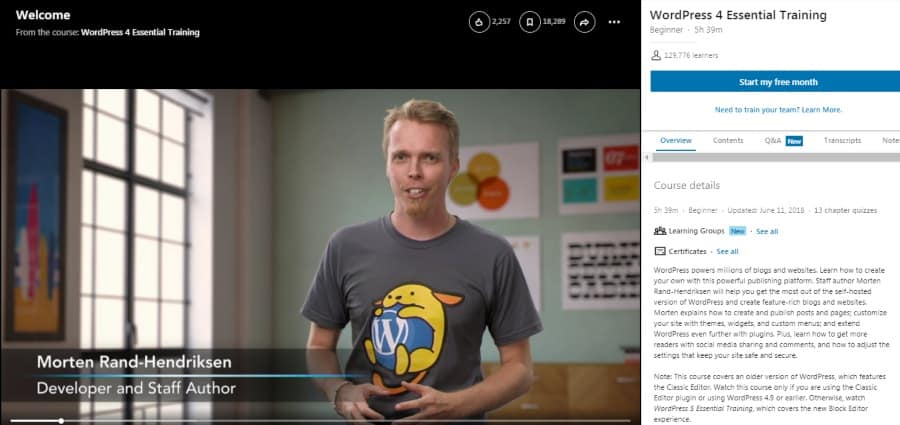 WordPress 4 Essential Training