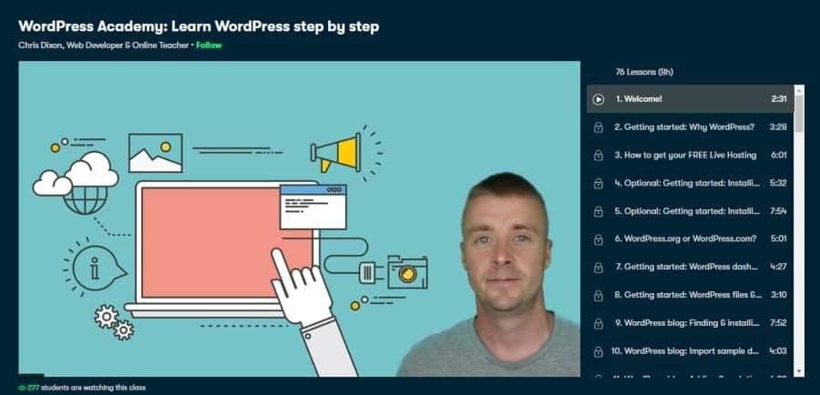 WordPress Academy: Learn WordPress step by step
