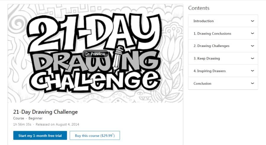 21-Day Drawing Challenge