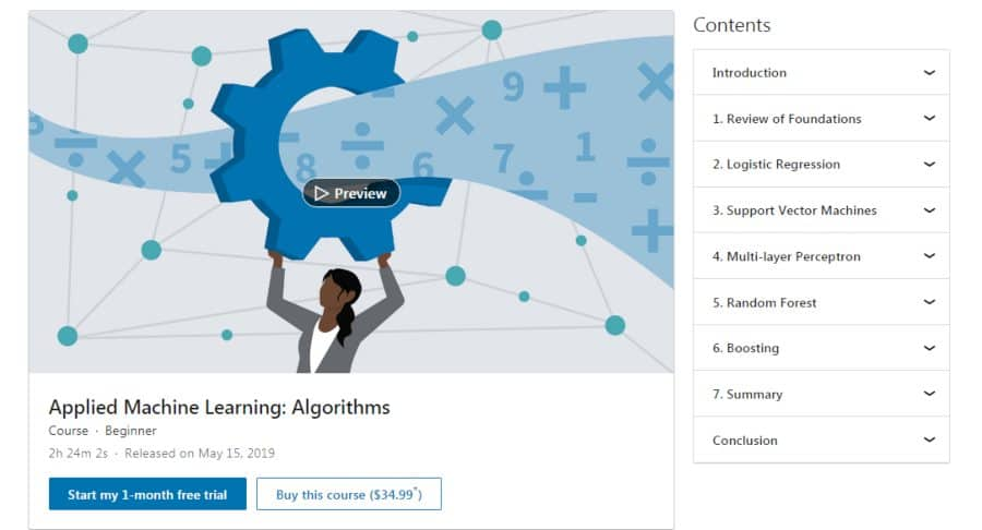 Applied Machine Learning: Algorithms