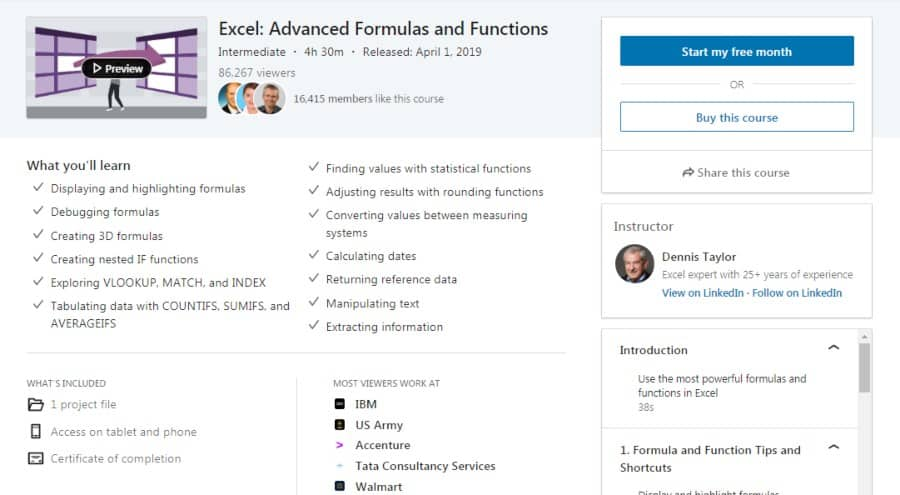 Excel: Advanced Formulas and Functions