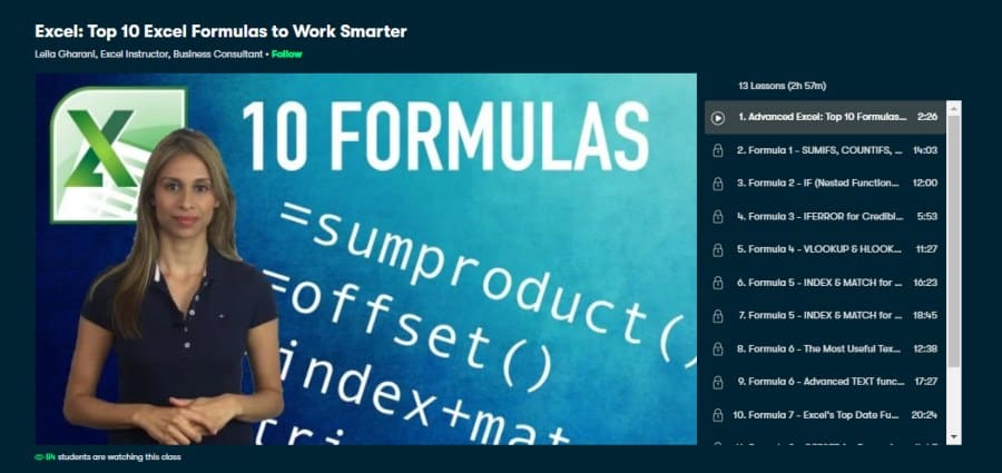 Excel: Top 10 Excel Formulas to Work Smarter
