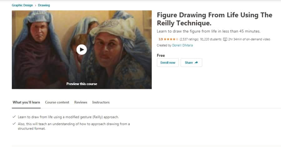 Figure Drawing From Life Using The Reilly Technique