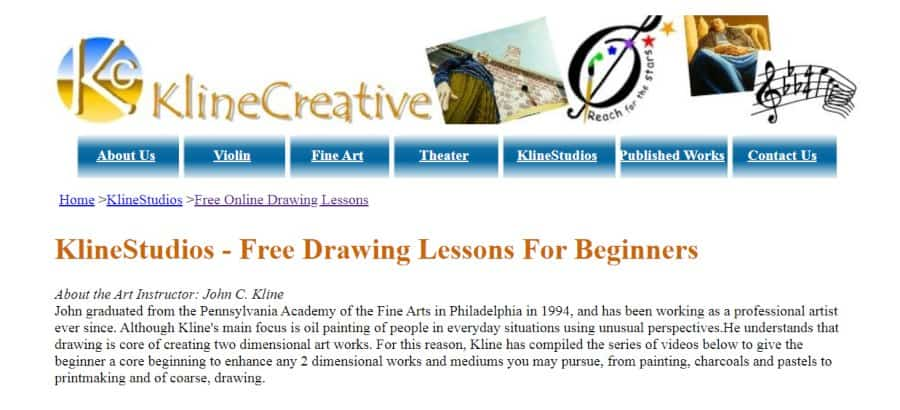 KlineStudios - Free Drawing Lessons For Beginners
