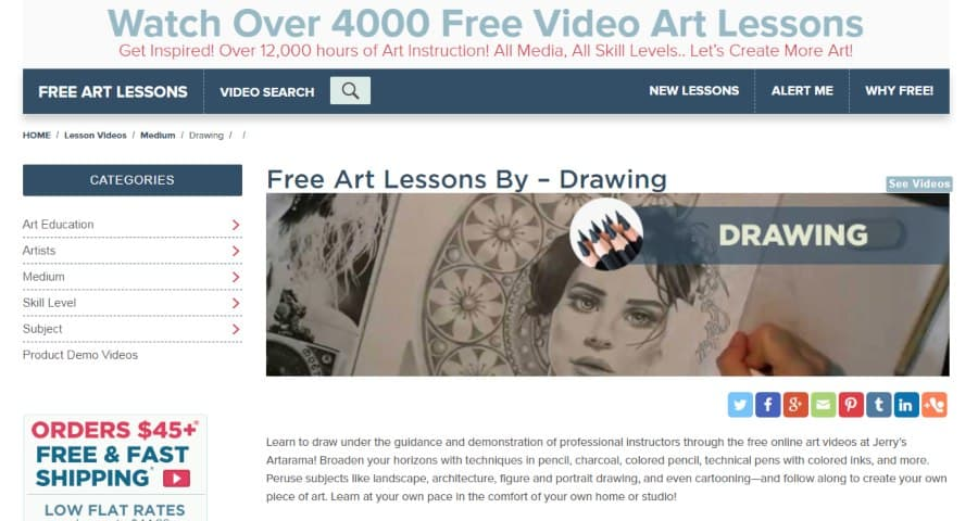 Over 4000 Free Video Art Lessons