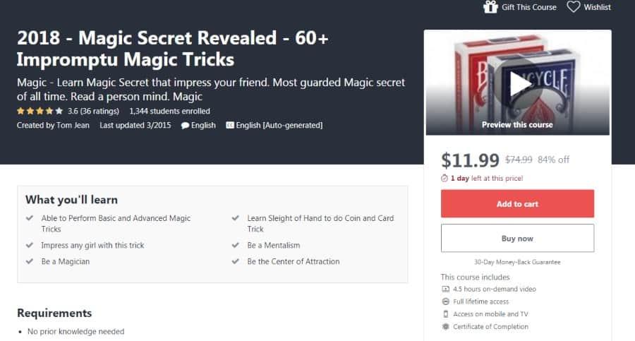 2018 - Magic Secret Revealed - 60+ Impromptu Magic Tricks