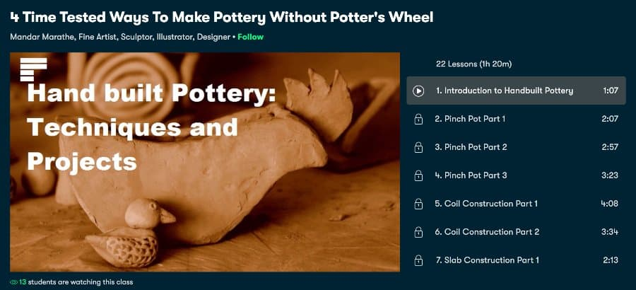 Course_ 4 Time Tested Ways to Make Pottery Without Potter's Wheel