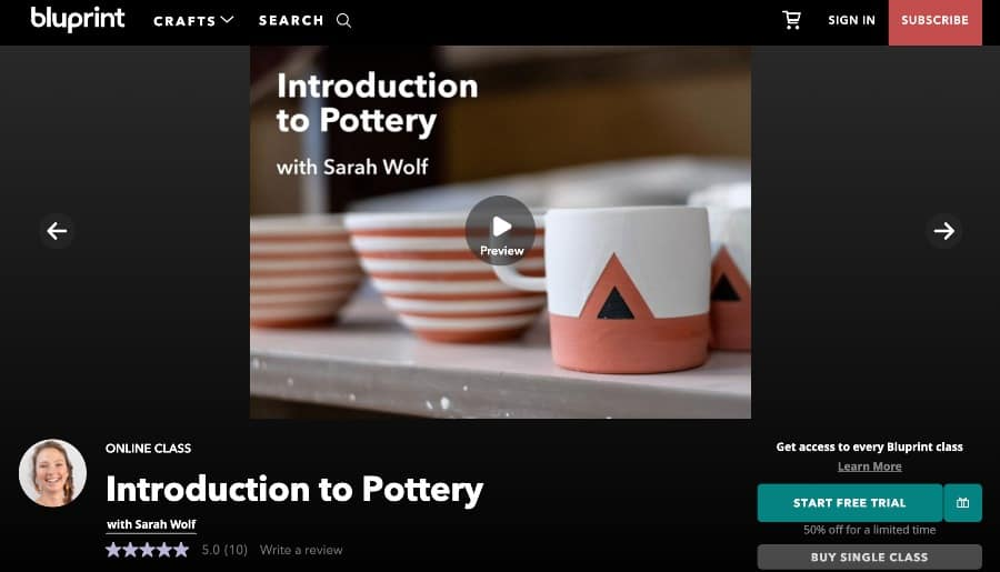 best free online pottery classes